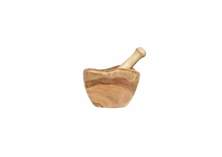 Vijzel en Stamper Olijhout 14 cm - Cosy Trendy