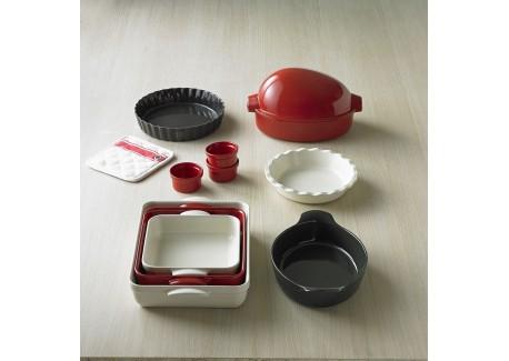 emile henry plat four individuel 22x14 cm argile les secrets du chef. Black Bedroom Furniture Sets. Home Design Ideas