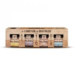 Cadeaubox Chocoladepasata Pause Gourmande 4 x 100 g - Comptoir de Mathilde