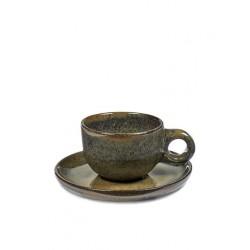 Sergio Herman Surface Tasse Café Lungo avec Sous-Tasse Indi Grey - Serax