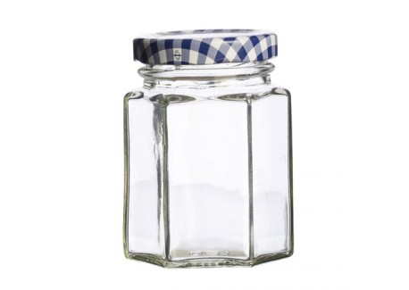 kilner bocal hexagonal en verre avec couvercle 110 ml les secrets du chef. Black Bedroom Furniture Sets. Home Design Ideas