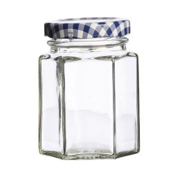 Glazen Zeshoekige Bokaal met Schroefdeksel 110 ml
