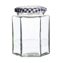 Glazen Zeshoekige Bokaal met Schroefdeksel 280 ml