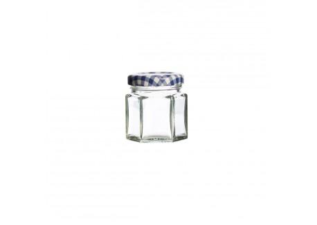 Glazen Zeshoekige Bokaal met Schroefdeksel 48 ml - Kilner