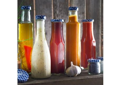 Kilner bouteille hexagonal en verre avec couvercle 250 ml - Saladier en verre avec couvercle ...