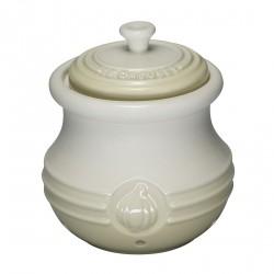 Pot à Ail en Céramique Blanc Crème   - Le Creuset