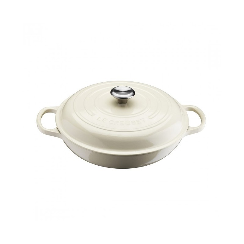 le creuset faitout campagnard 30 cm blanc cr me les secrets du chef. Black Bedroom Furniture Sets. Home Design Ideas