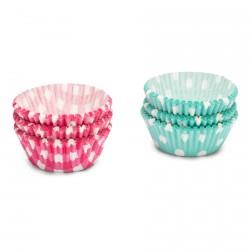 Caissettes Papier Cupcakes Pois/Carrés 200 pcs 5 cm  - Patisse