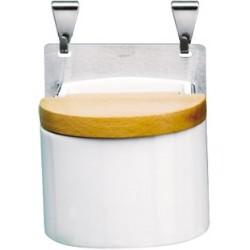 Panoply Boite à Sel en Porcelaine Blanche  - Cristel