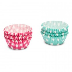 Caissettes Papier Cupcakes Pois/Carrés 200 pcs 3 cm - Patisse