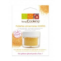 Eetbare Glitter Gouden 5g - Scrapcooking