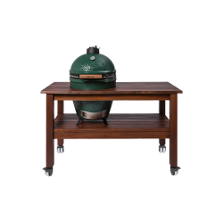 Table en Acajou Barbecue Large  - Big Green Egg