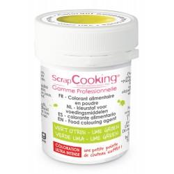 Colorant Poudre Vert Citron (ou Vert Pistache) 5g  - Scrapcooking