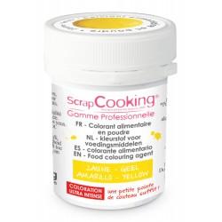 Colorant Poudre Jaune (ou Jaune D'Or) 5g - Scrapcooking
