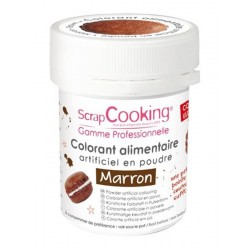 Colorant Marron (ou Marron Chocolat) 5g  - Scrapcooking