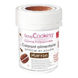 Colorant Poudre Marron (ou Marron Chocolat) 5g  - Scrapcooking