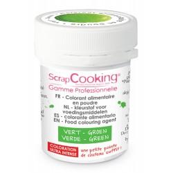 Colorant Poudre Vert (ou Vert Prairie) 5g - Scrapcooking