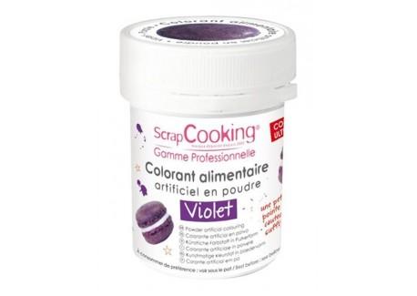 Colorant Poudre Violet (ou Violet Myrtille) 5g  - Scrapcooking