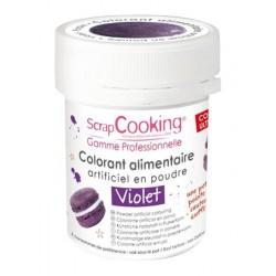 Colorant Poudre Violet (ou Violet Myrtille) 5 g - Scrapcooking