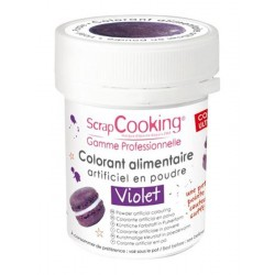 Colorant Violet (ou Violet Myrtille) 5g  - Scrapcooking