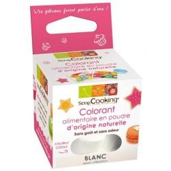 Colorant Naturel Poudre Blanc 10 g - Scrapcooking