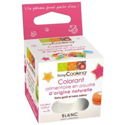 Colorant Naturel Poudre Blanc 10g - Scrapcooking