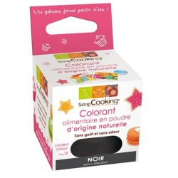 Colorant Naturel Poudre Noir 3 g - Scrapcooking