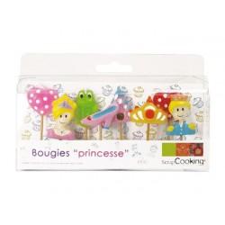 Bougies Princesse 8 pces  - Scrapcooking