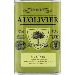 Huile d'Olive Ail et Thym 250 ml - A l'Olivier
