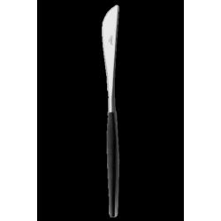 Goa Couteau à Découper Brossé Manche Noir - Cutipol