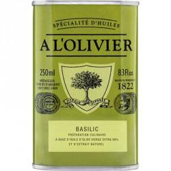 Huile d'Olive Basilic 250 ml - A l'Olivier