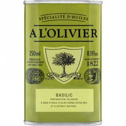 Olijfolie Basilicum 250ml - A l'Olivier