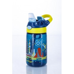 Gizmo Flip Kids Waterfles 420ml Nautical Blue Space  - Contigo