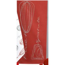 Brindilles Torchon Jacquard Rouge  - Winkler
