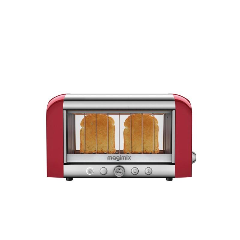 magimix grille pain le toaster vision rouge les secrets du chef. Black Bedroom Furniture Sets. Home Design Ideas