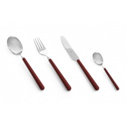 Fantasia Millenium Couverts 24 Pcs Rouge Bordeaux - Mepra