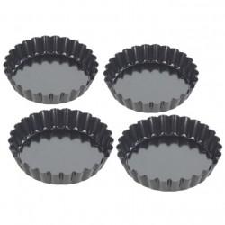Moules Mini Tartelettes Anti-adhésif 10 cm 4 pcs - Tala