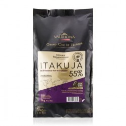 Donkere Chocolade Itakuja Bonen Zakje 3 kg - Valrhona
