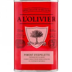 Huile d'Olive Piment d'Espelette 250 ml - A l'Olivier