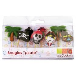 Bougies Pirates 8 pces  - Scrapcooking