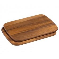 Planche à Petit Déjeuner Acacia 2 pces