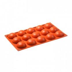 Moule 15 Demi-Sphères en Silicone  - Pavoni