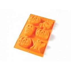 Kit Halloween Siliconen Bakvorm 6 Vormen + Bakkwast