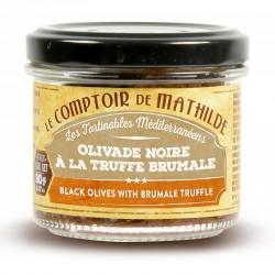 Zwarte Olijven met Brumale Truffel 90 g  - Comptoir de Mathilde