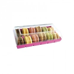 Boite à Biscuits et Macarons Rose Fushia  - Gatodéco