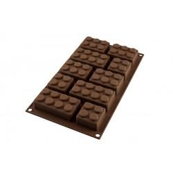 Moule Chocolat Easy Choc Choco Block Lego  - Silikomart