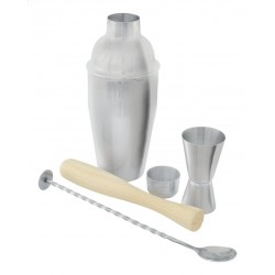 Coffret Cocktail avec Shaker 4 pcs  - Point Virgule
