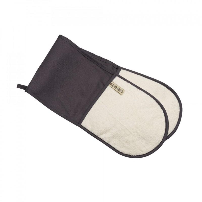 le creuset double gant four gris les secrets du chef. Black Bedroom Furniture Sets. Home Design Ideas