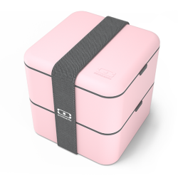 Square Bento LunchBox Rose Litchi