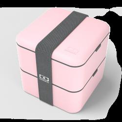 Square Bento LunchBox Roze Litchi - MonBento